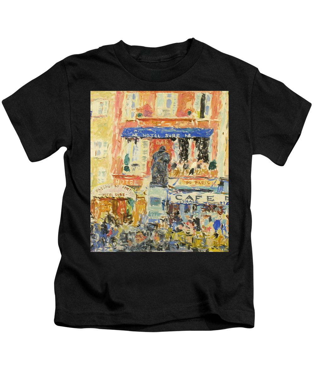 Summer Kids T-Shirt featuring the painting Landscape by Robert Nizamov