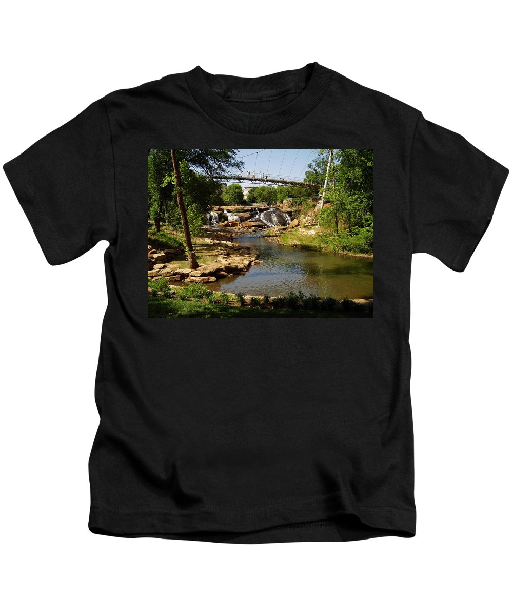 Liberty Bridge Kids T-Shirt featuring the photograph Liberty Bridge by Flavia Westerwelle