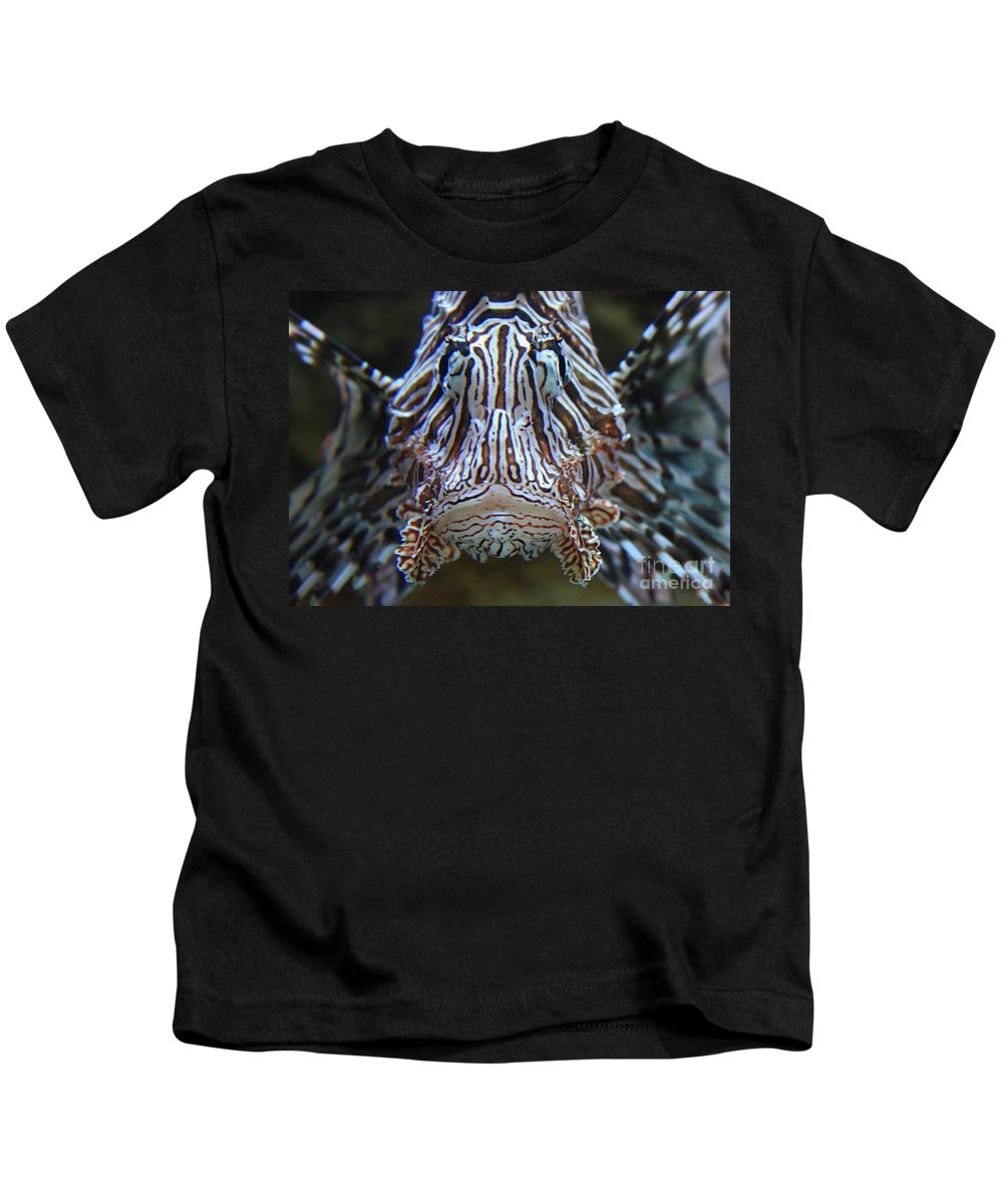 Fish Kids T-Shirt featuring the photograph Lion Fish by Carol Groenen