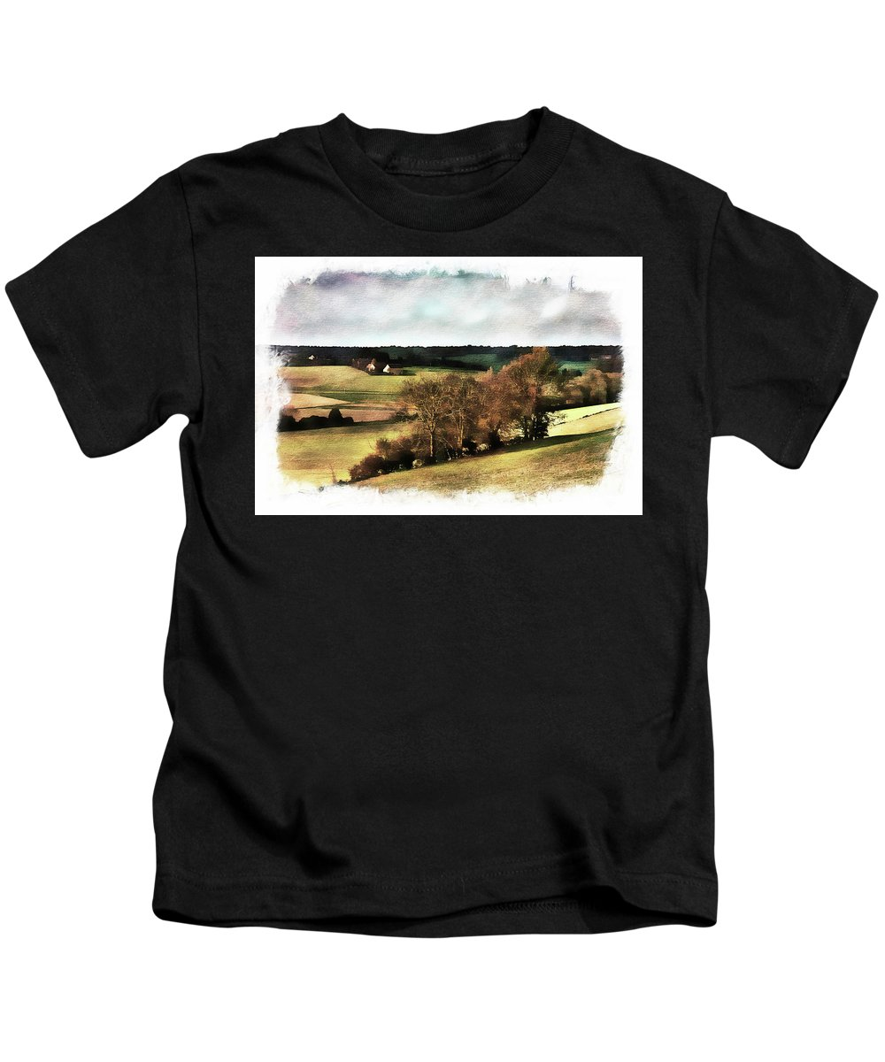 Loire Kids T-Shirt featuring the photograph Loire Valley by Hugh Smith