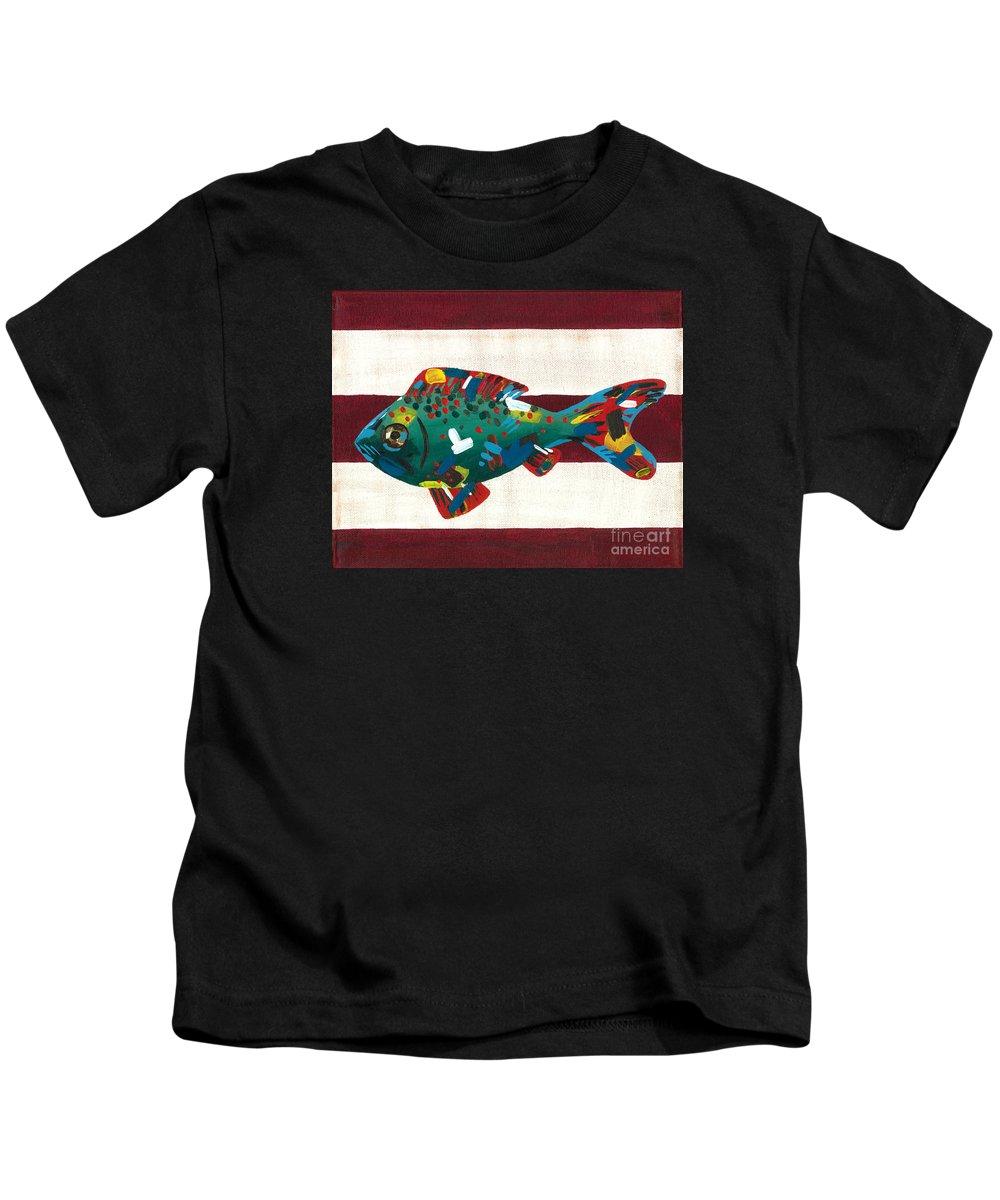 Fish Kids T-Shirt featuring the painting Marine Life No. 4 by Jade Kozlowski-Goetz