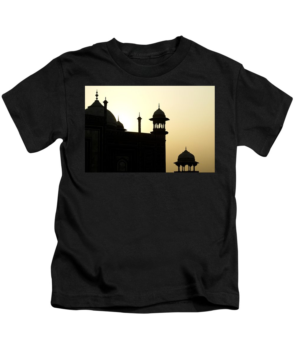 Mosque Kids T-Shirt featuring the photograph Minarets At Sunrise by Michele Burgess