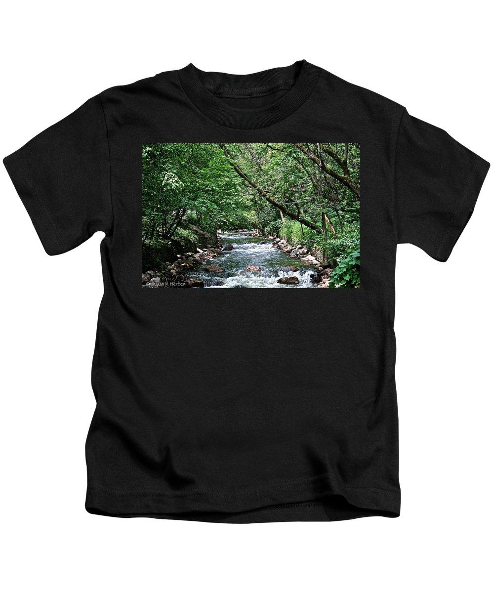 Outdoors Kids T-Shirt featuring the photograph Minnehaha Creek by Susan Herber