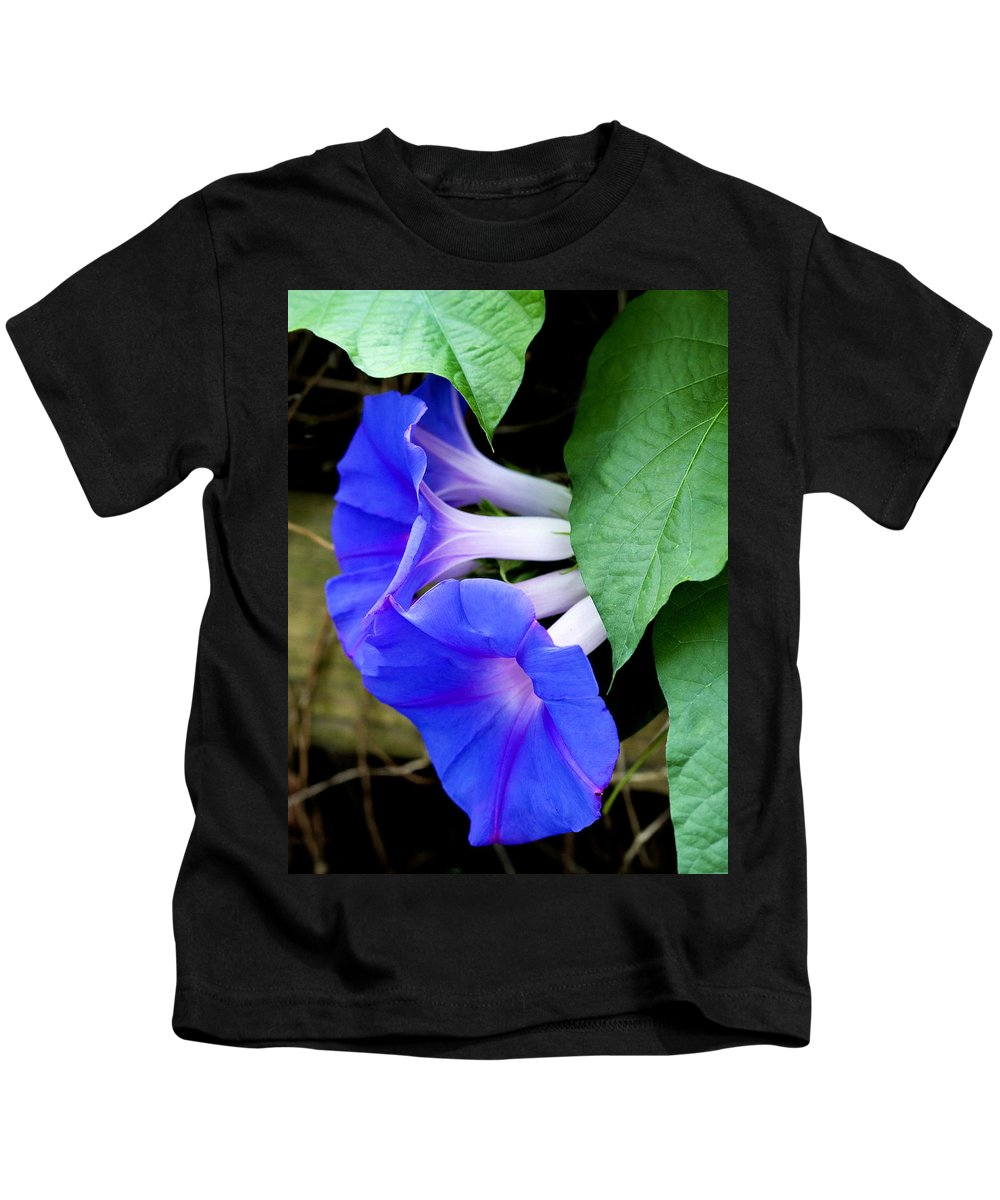 Morning Glory Kids T-Shirt featuring the photograph Morning Glory by Marilyn Hunt