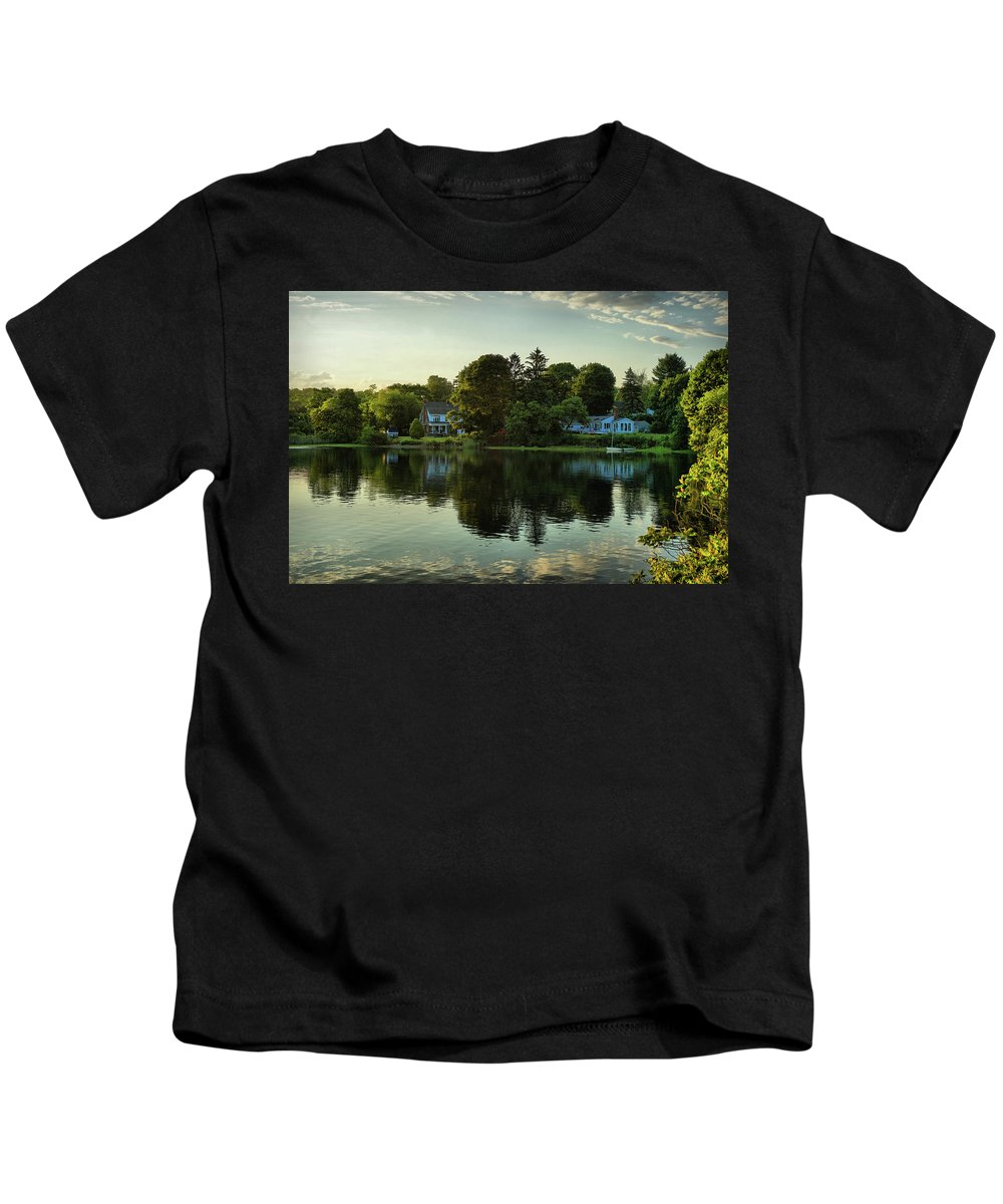New England Scenery Kids T-Shirt featuring the photograph New England Scenery by Lilia D