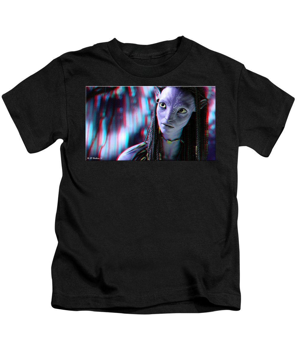 3d Kids T-Shirt featuring the photograph Neytiri - Use Red And Cyan 3d Glasses by Brian Wallace