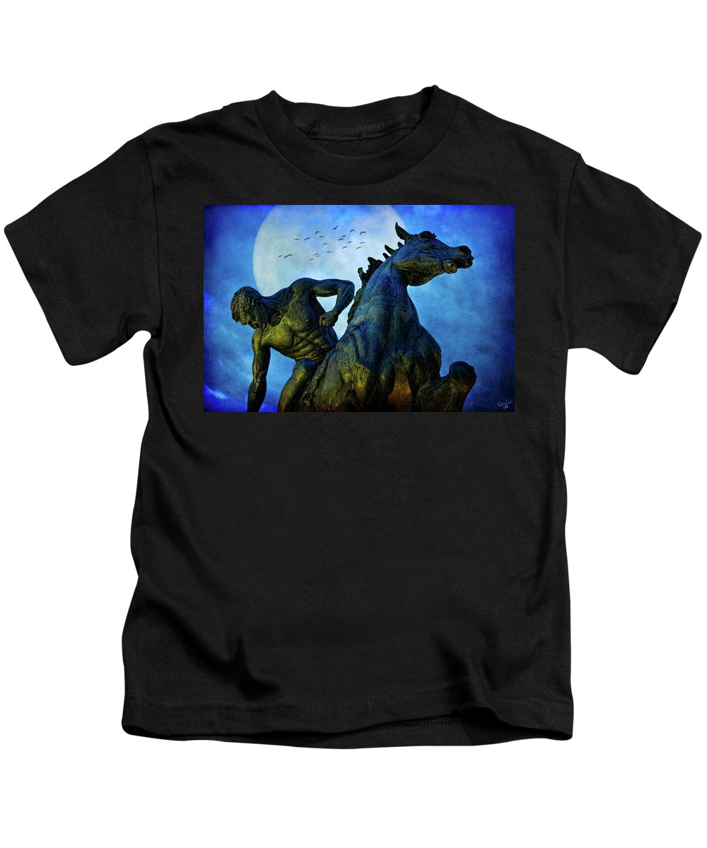 Moon Kids T-Shirt featuring the photograph Night Rider by Chris Lord