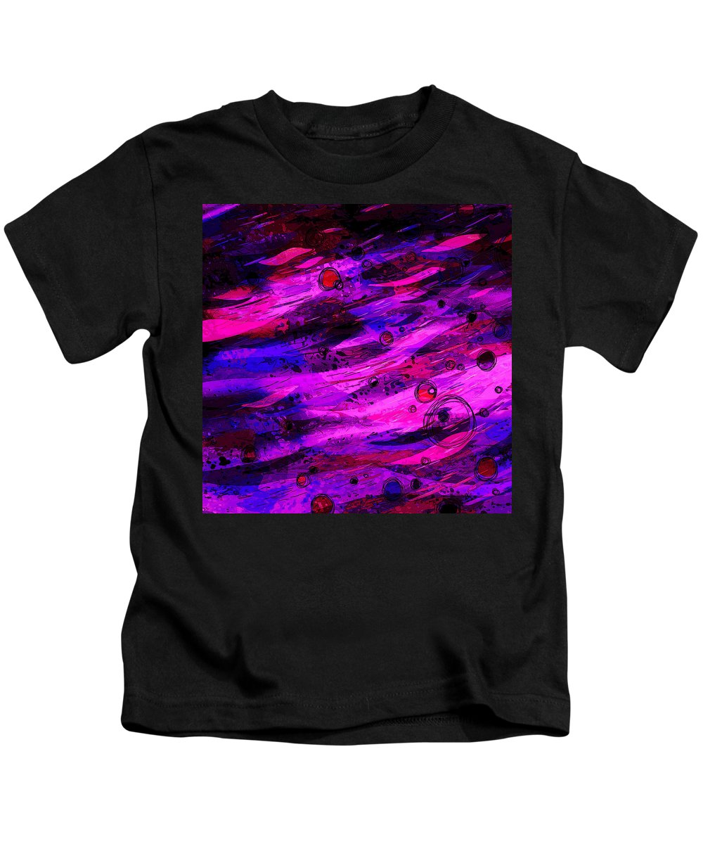 Abstract Kids T-Shirt featuring the digital art Not Of This World by Rachel Christine Nowicki
