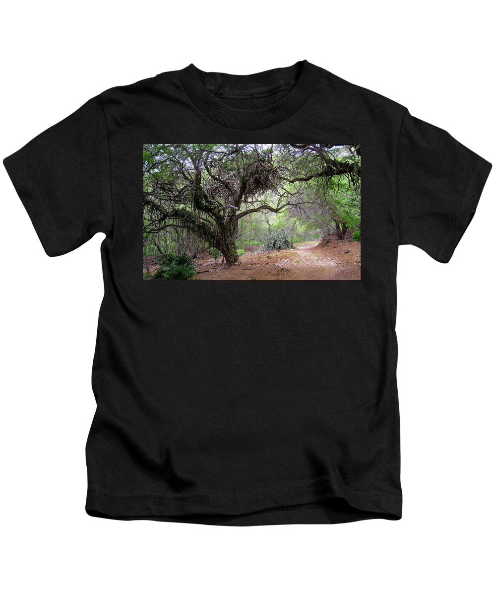 Path Kids T-Shirt featuring the digital art Path by Dorothy Binder
