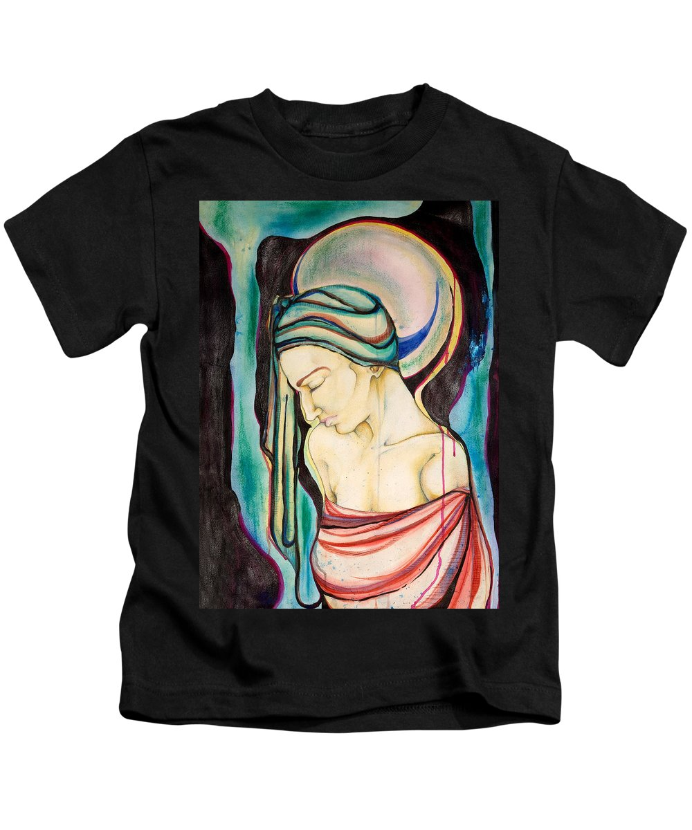 Peace Kids T-Shirt featuring the painting Peace Beneath The City by Sheridan Furrer
