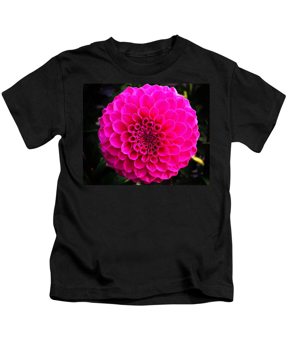 Flower Kids T-Shirt featuring the photograph Pink Flower by Anthony Jones