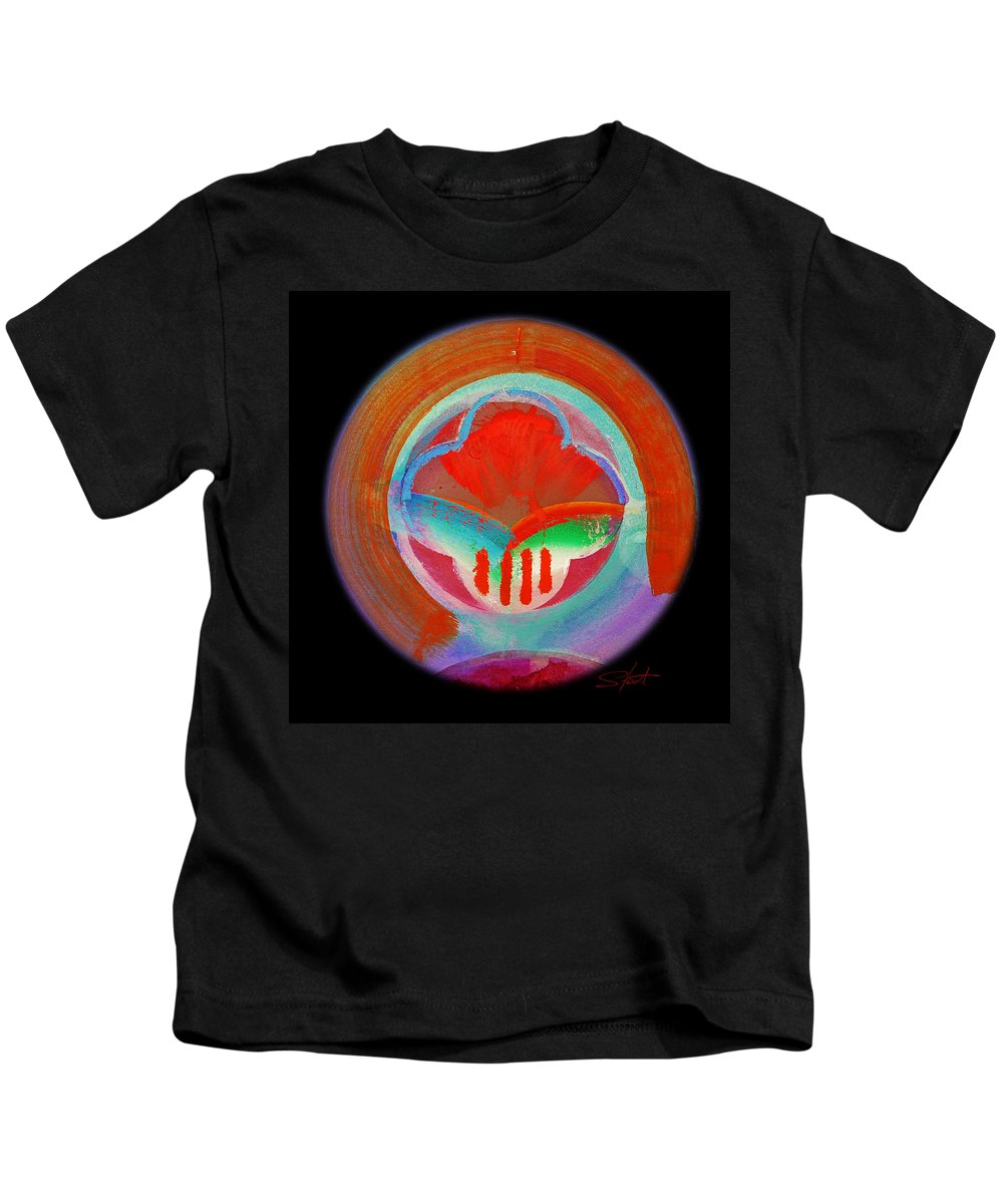 Plate Kids T-Shirt featuring the painting Plate State by Charles Stuart