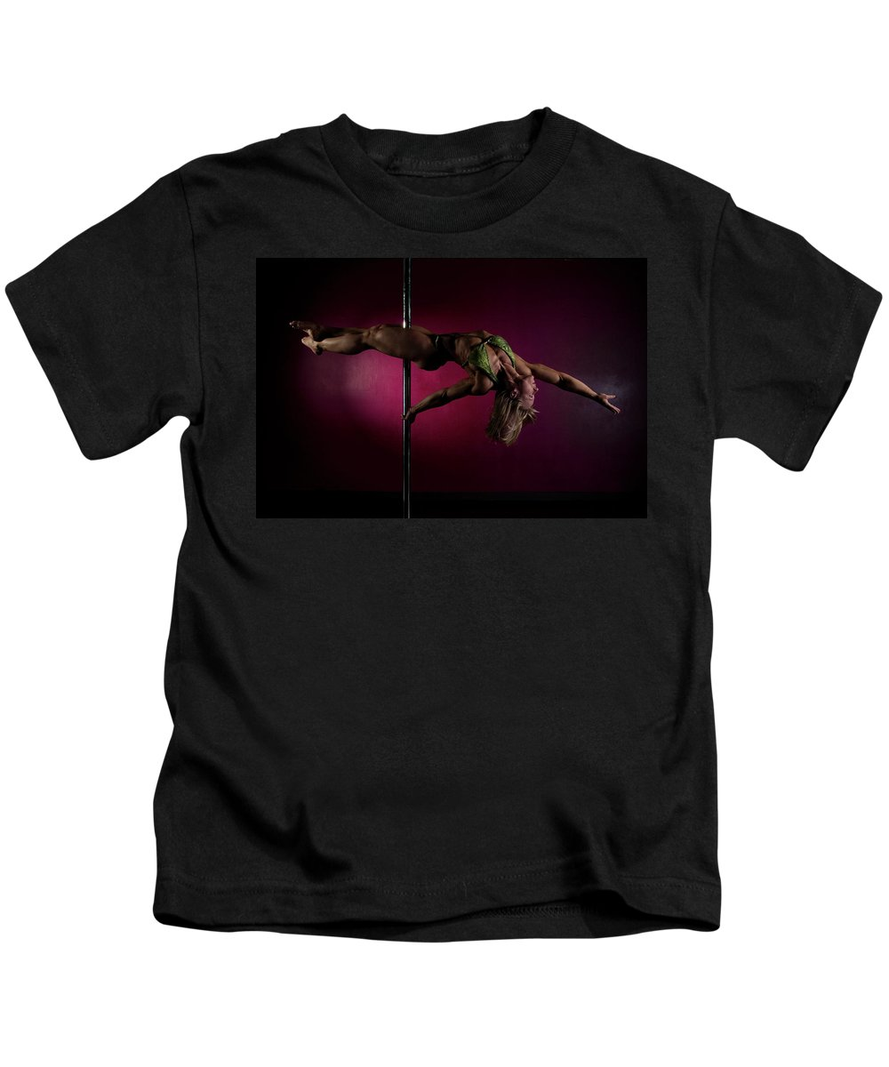 Strength Kids T-Shirt featuring the photograph Pole Position 1 by Monte Arnold