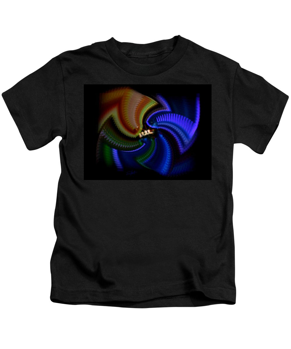 Chaos Kids T-Shirt featuring the painting Rainbow by Charles Stuart