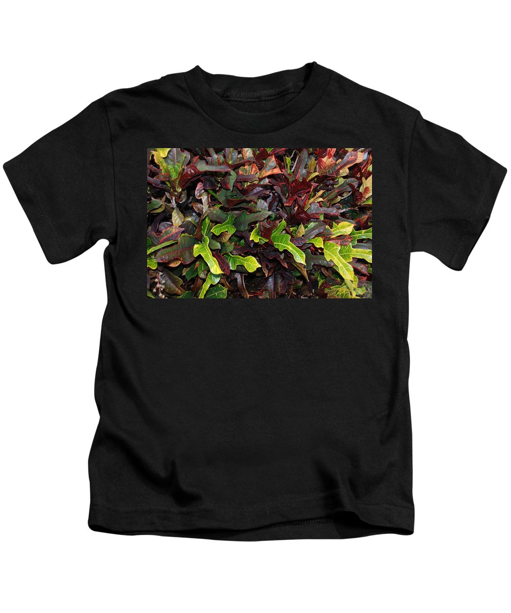 Macro Kids T-Shirt featuring the photograph Red Green Leaves by Rob Hans