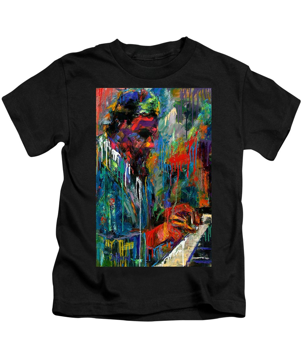 Painting Kids T-Shirt featuring the painting Round Midnight by Debra Hurd