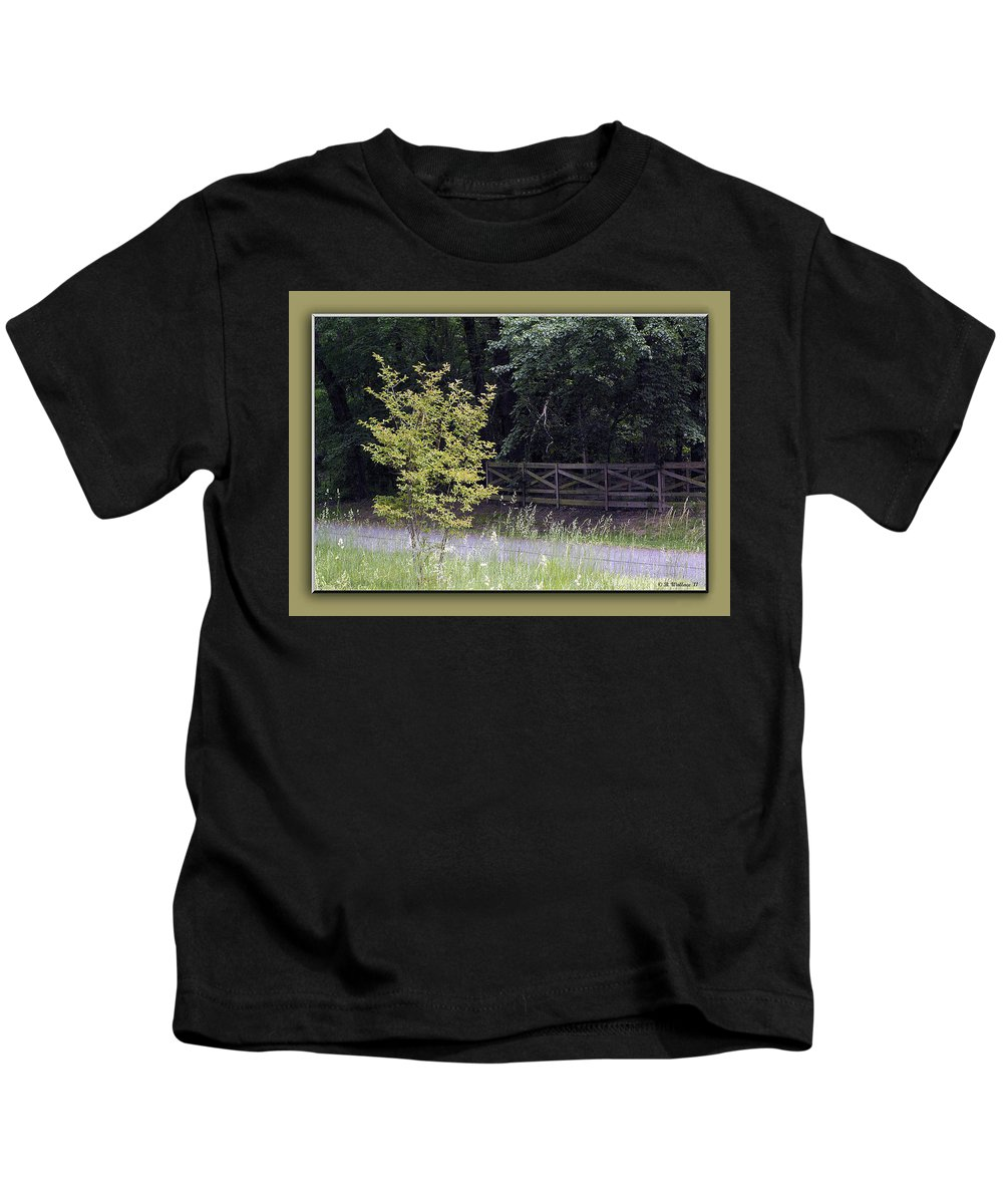 2d Kids T-Shirt featuring the photograph Rural Landscape by Brian Wallace