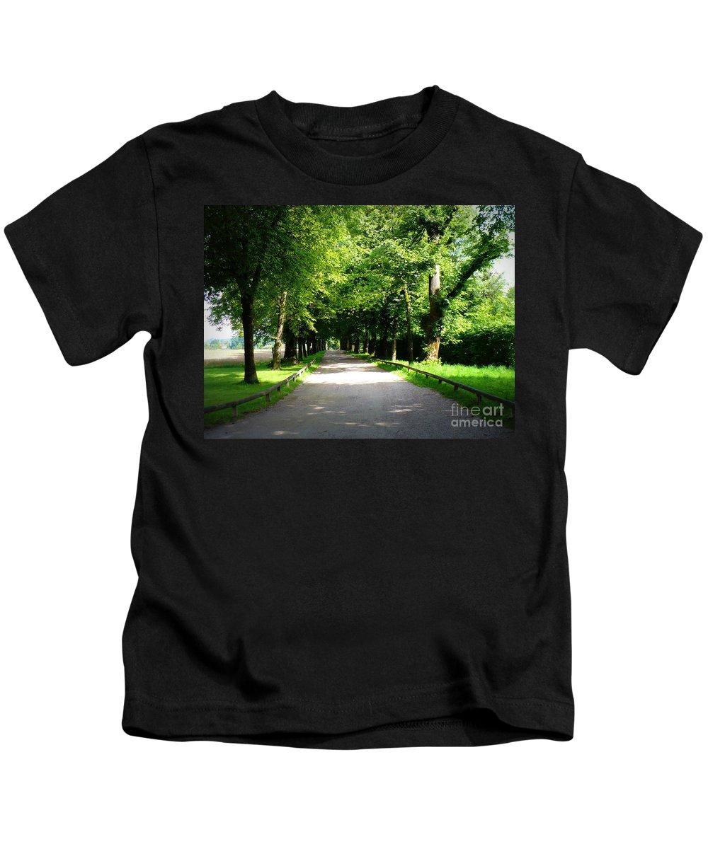Lane Kids T-Shirt featuring the photograph Salzburg Lane by Carol Groenen