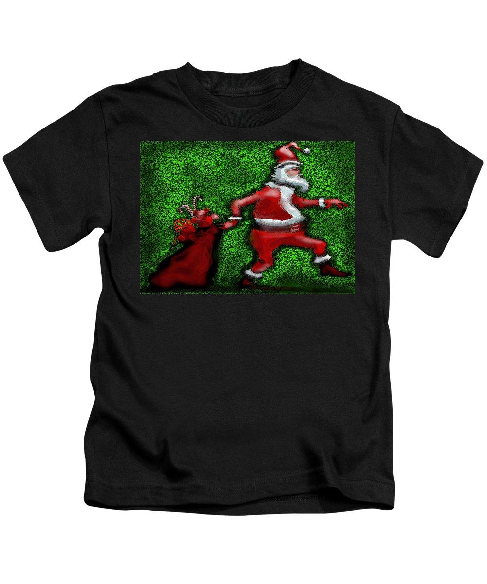 Santa Kids T-Shirt featuring the greeting card Santa Claus by Kevin Middleton