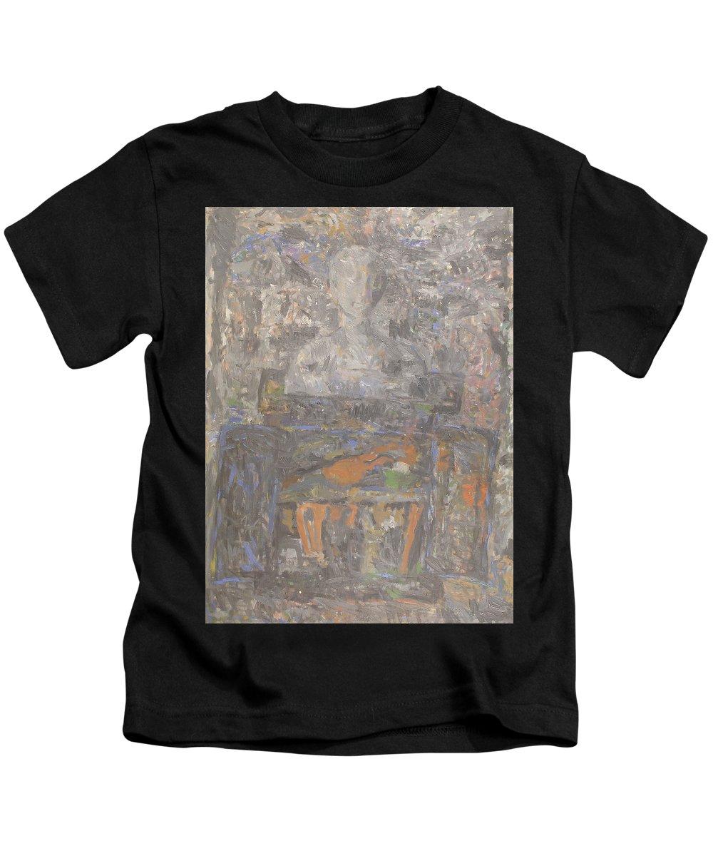 Sculpture Kids T-Shirt featuring the painting Sculpture by Robert Nizamov