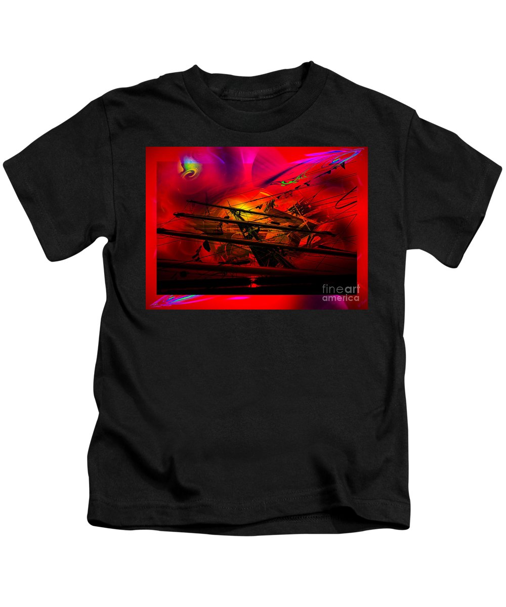 Sunset Kids T-Shirt featuring the photograph Sea Romantic - Sailing Ship 3 by Walter Zettl