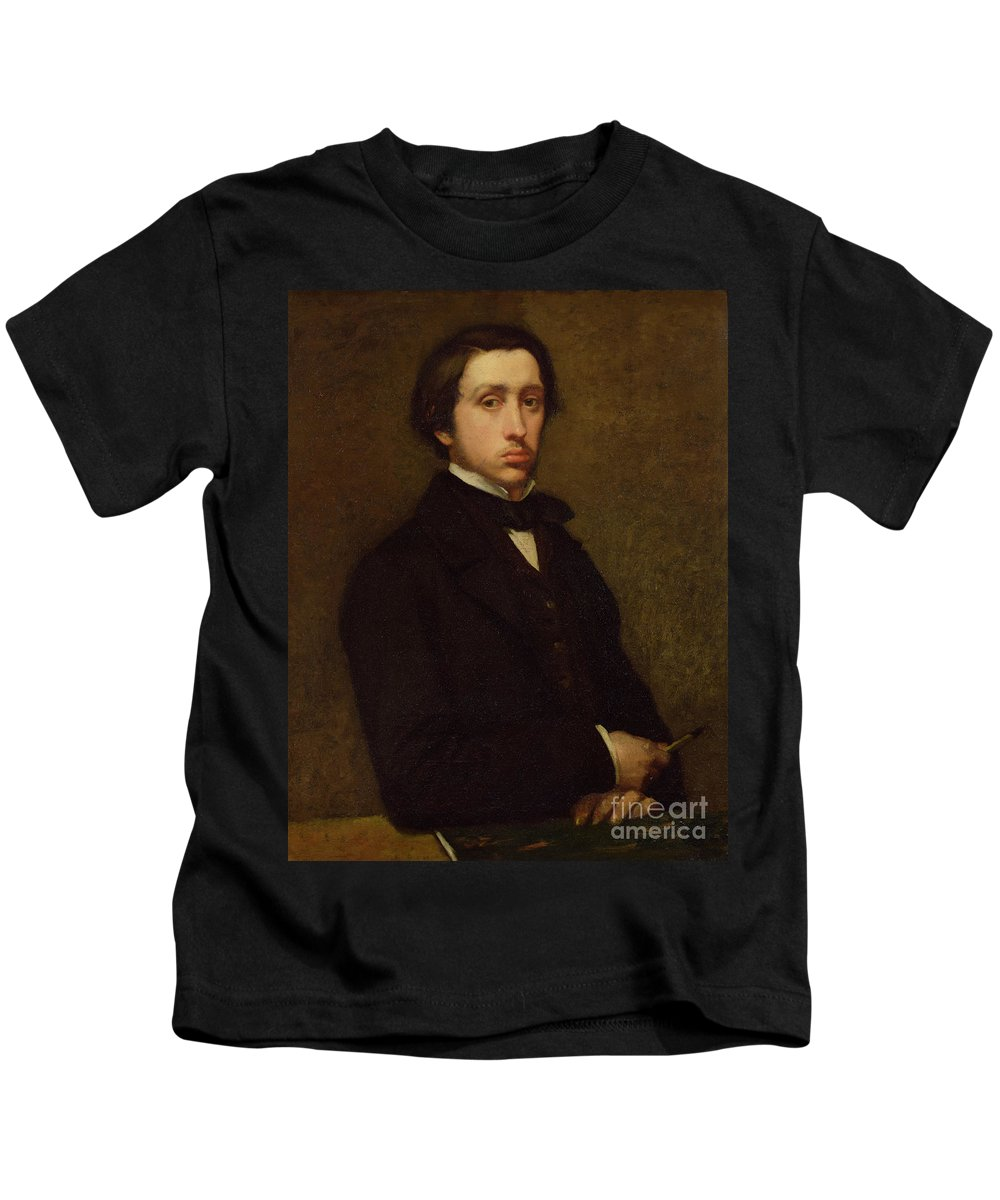 Self Portrait Kids T-Shirt featuring the painting Self Portrait by Edgar Degas