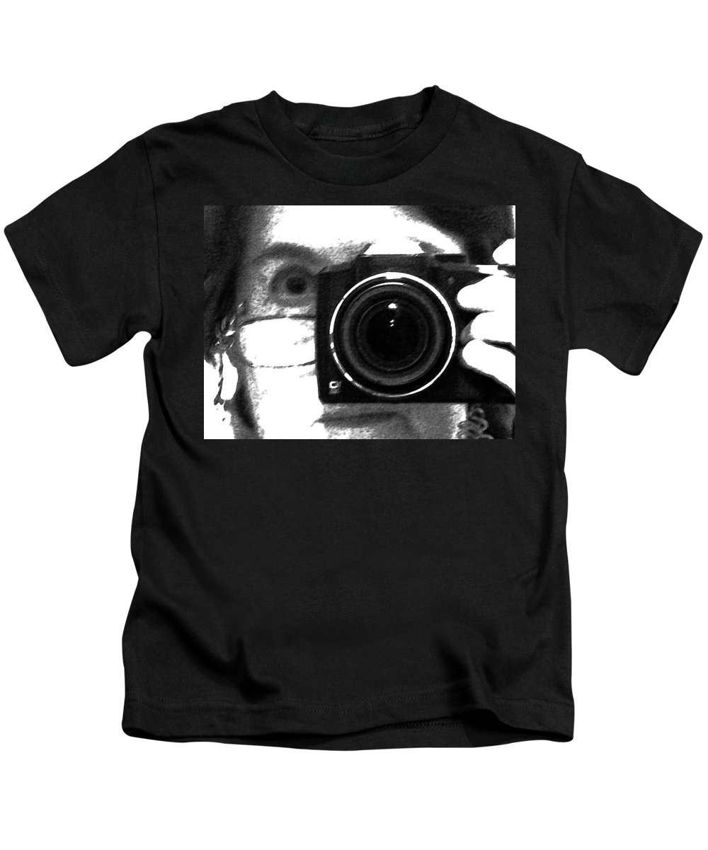 Abstract Kids T-Shirt featuring the photograph Self Portrait by Lenore Senior