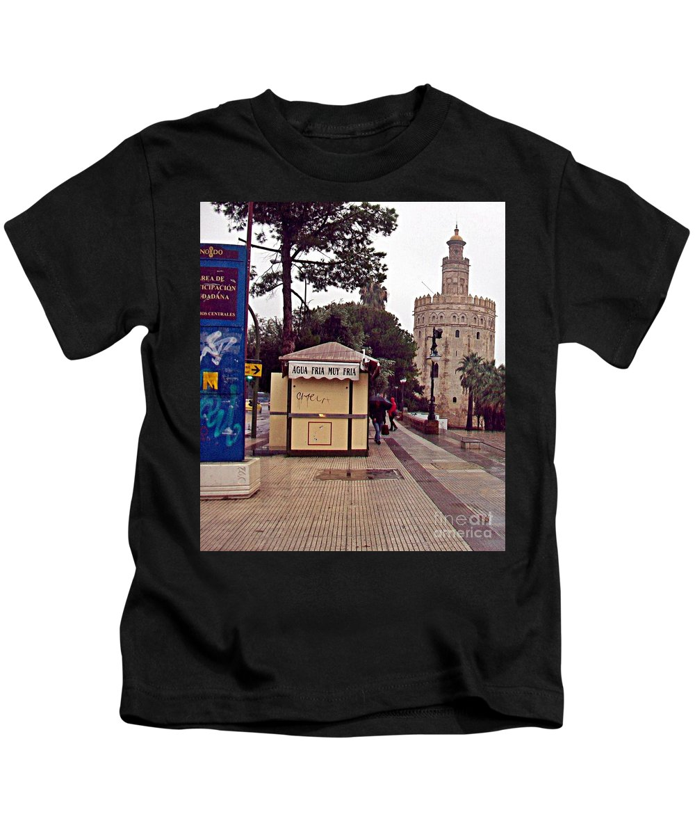 Sevilla Kids T-Shirt featuring the photograph Sevilla-90 by Rezzan Erguvan-Onal