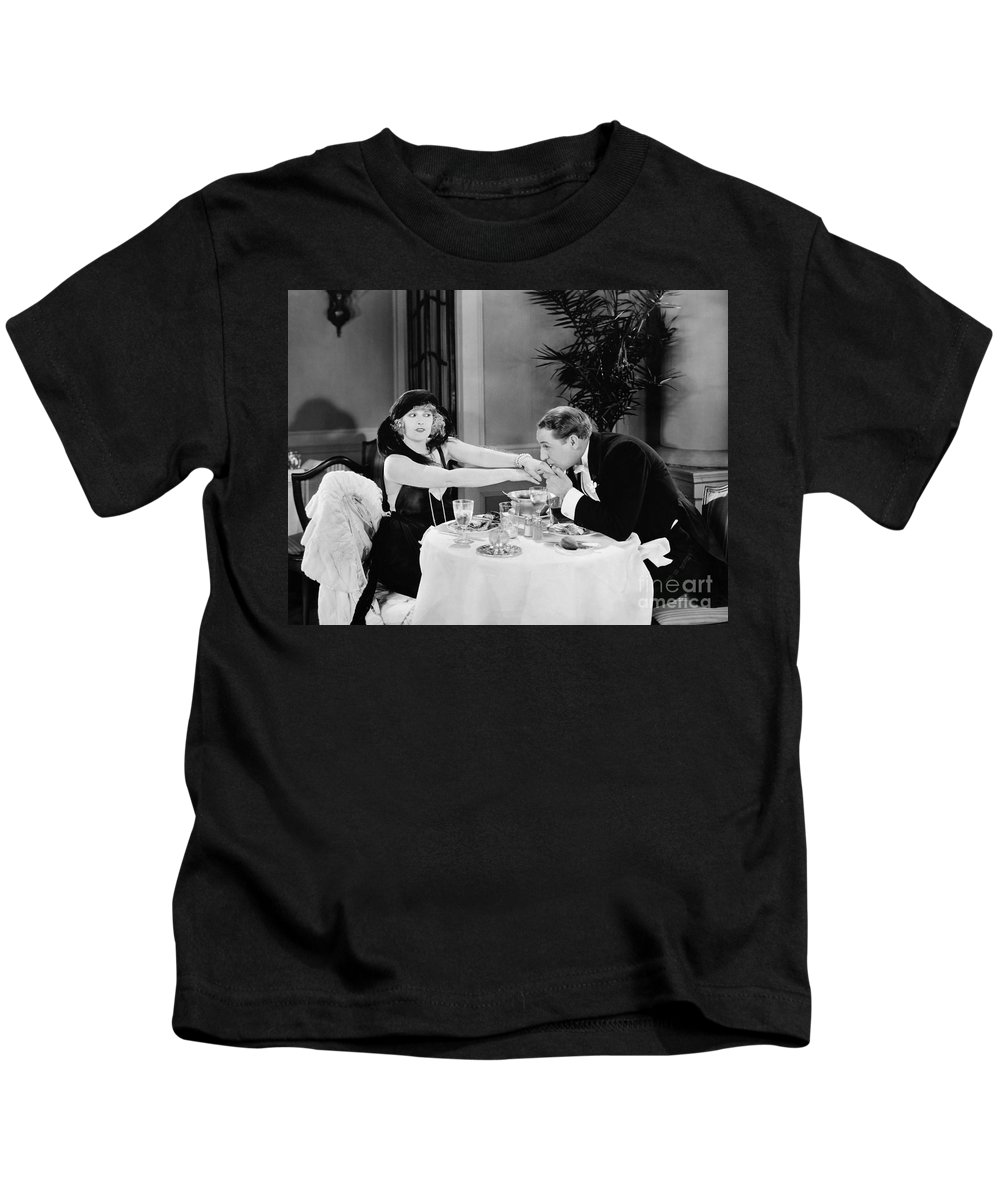 -kissing Hand- Kids T-Shirt featuring the photograph Silent Still: Hand Kissing by Granger
