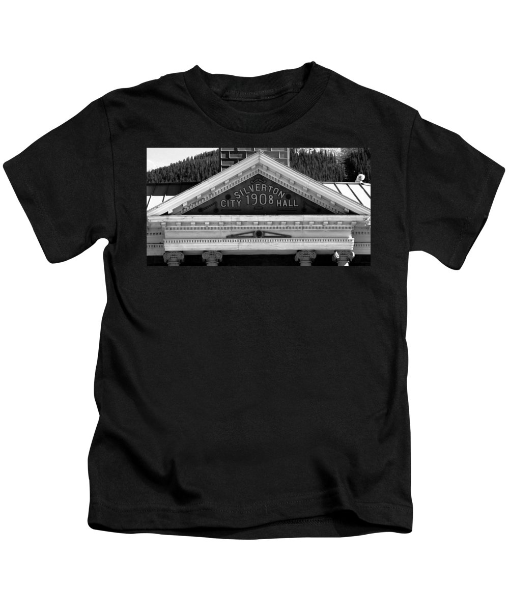 Fine Art Photography Kids T-Shirt featuring the photograph Silverton City Hall 1908 by David Lee Thompson