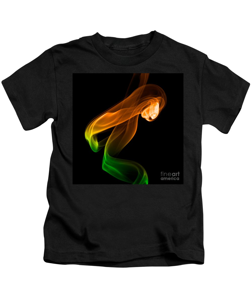 Abstract Kids T-Shirt featuring the photograph smoke XIV by Joerg Lingnau