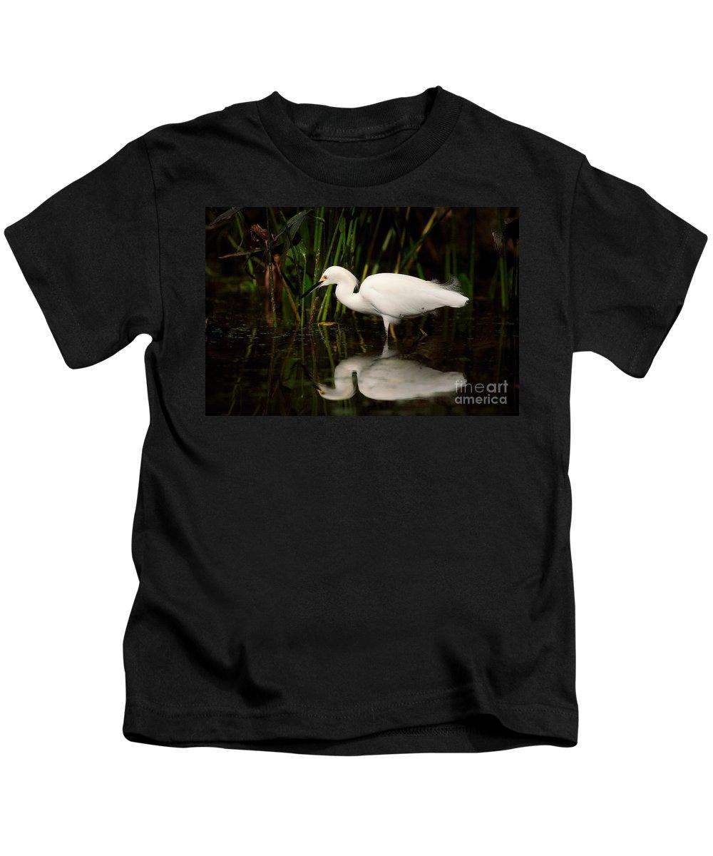 Snowy Egret Kids T-Shirt featuring the photograph Snowy Egret by Matt Suess