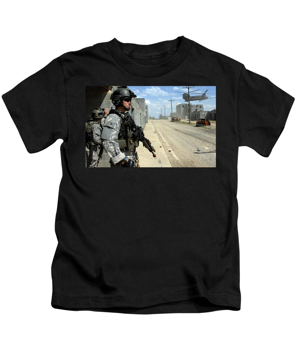 Soldier Kids T-Shirt featuring the digital art Soldier by Dorothy Binder