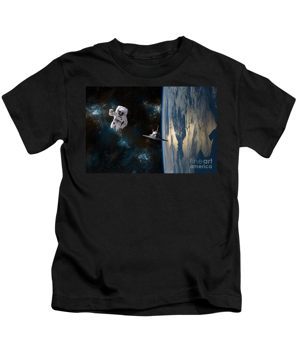 American Kids T-Shirt featuring the photograph Space Rescue by Marc Ward