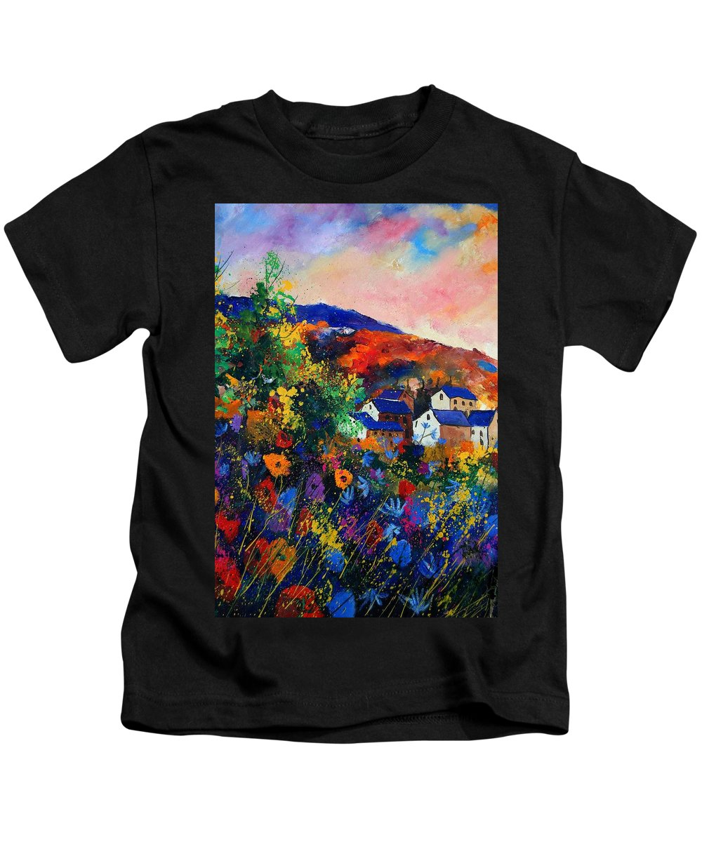 Landscape Kids T-Shirt featuring the painting Summer by Pol Ledent