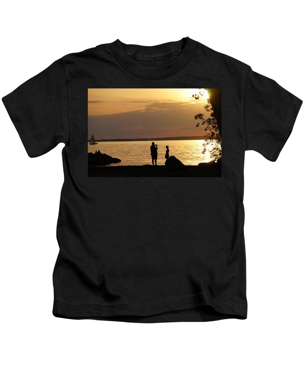 Sunset Kids T-Shirt featuring the photograph Sunset by Galia Nikolaeva