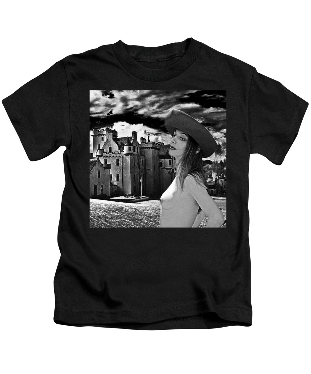 Castle Kids T-Shirt featuring the photograph The Countess Awaits by Robert Magnus