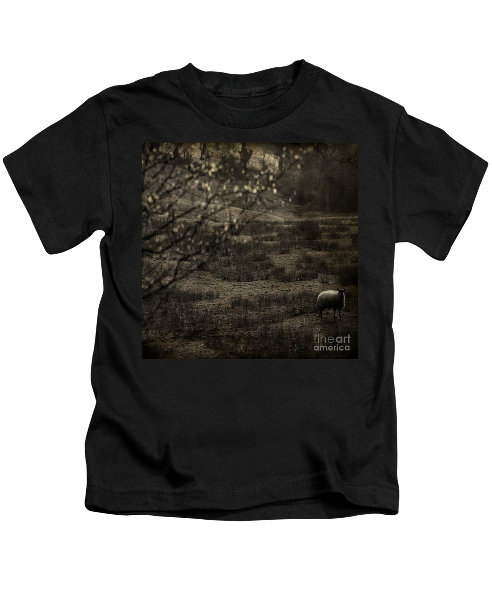 Easter Kids T-Shirt featuring the photograph The Countryside by Angel Ciesniarska