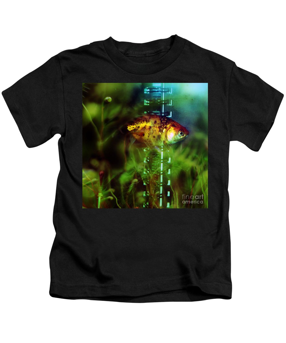 Fish Kids T-Shirt featuring the photograph The Goldfish by Angel Tarantella