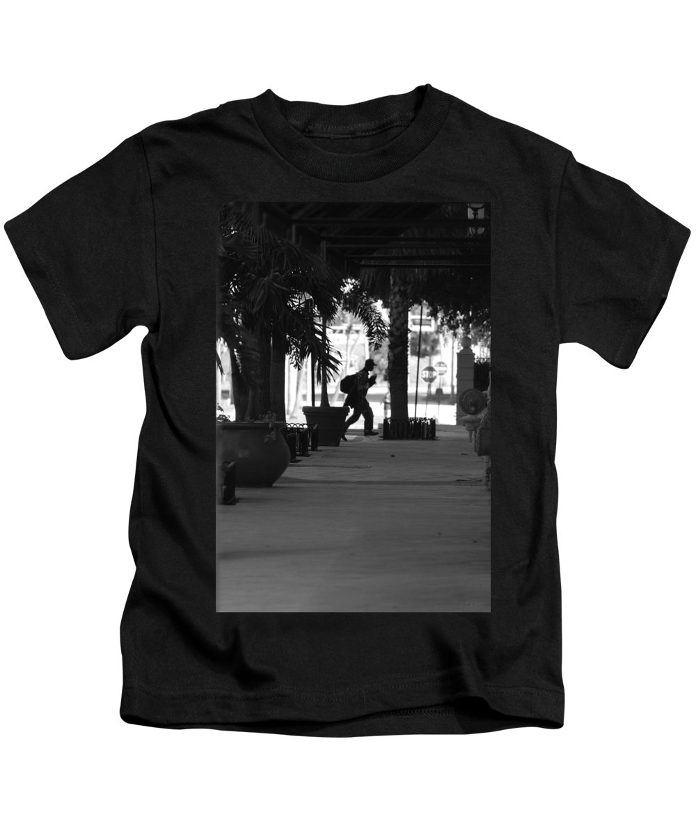 Street Scene Kids T-Shirt featuring the photograph The Post Man by Rob Hans