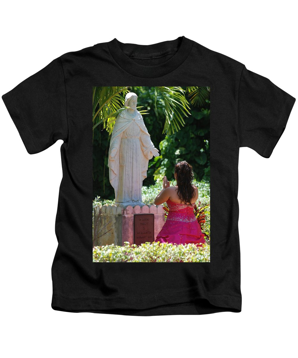Portrait Kids T-Shirt featuring the photograph The Praying Princess by Rob Hans