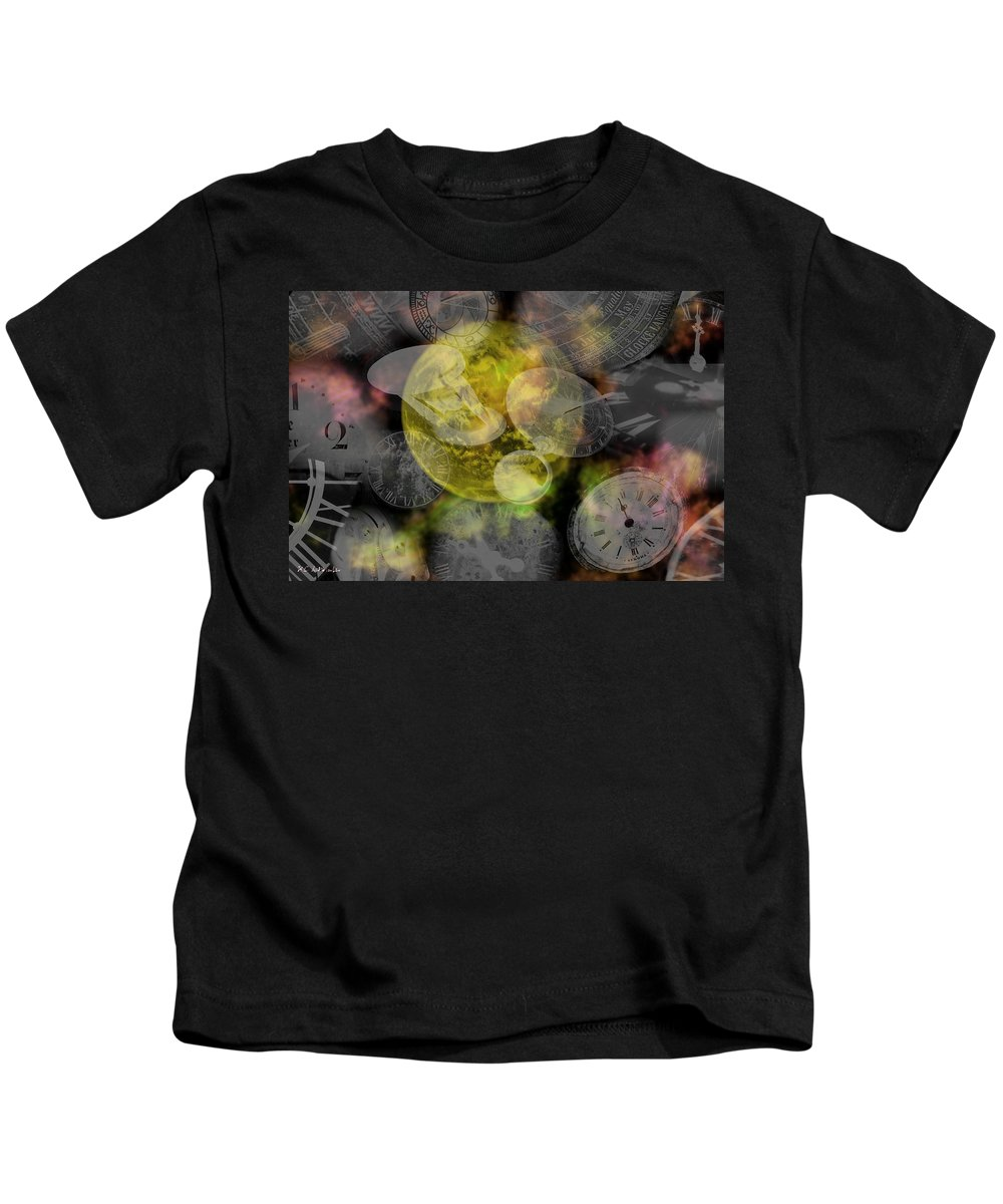 Chaos Kids T-Shirt featuring the painting The Time Is Out Of Joint by RC DeWinter