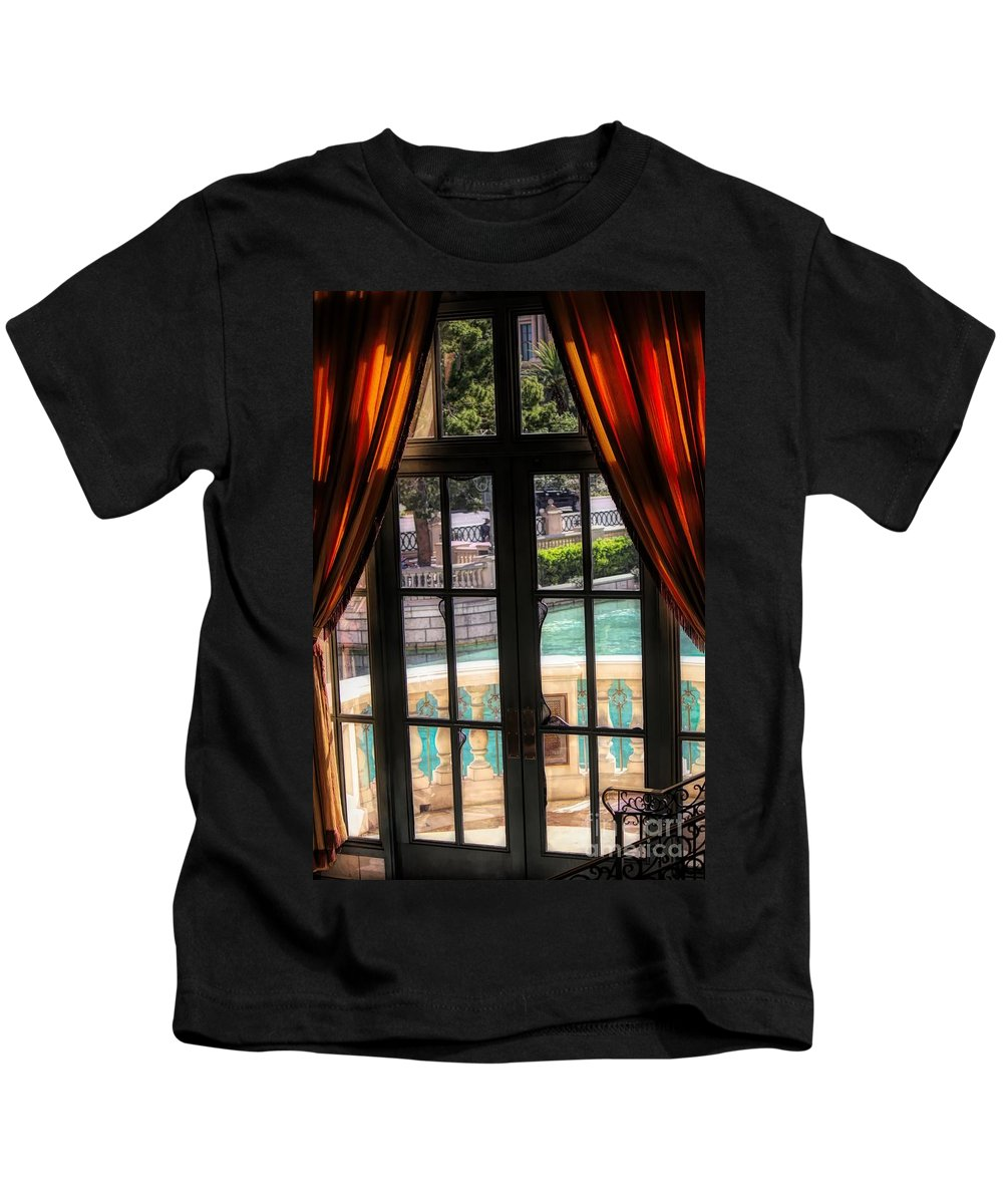 Window Kids T-Shirt featuring the photograph The Window by Paulette Thomas
