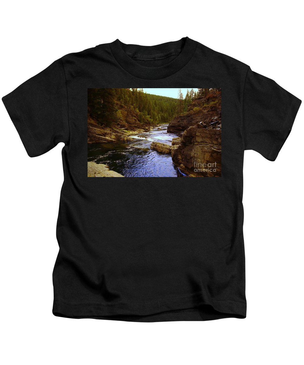 Water Kids T-Shirt featuring the photograph The Yak River by Jeff Swan