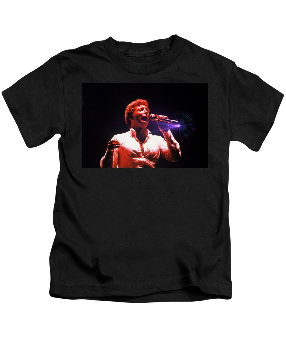 Concert Kids T-Shirt featuring the photograph Tom Jones In Concert by Anthony Dezenzio