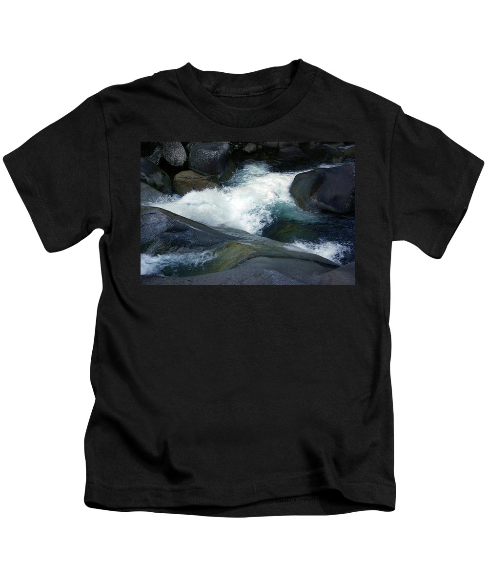 Fineart Kids T-Shirt featuring the photograph Tropical Flowing Waters Josephine Falls by Kerryn Madsen- Pietsch