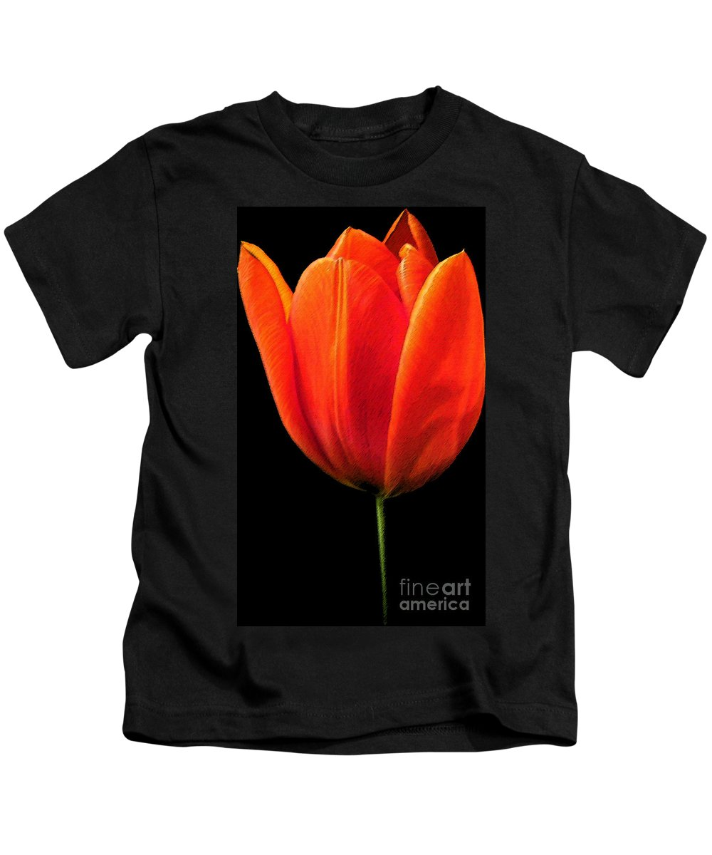 Tulips Kids T-Shirt featuring the photograph Tulip by Amanda Barcon
