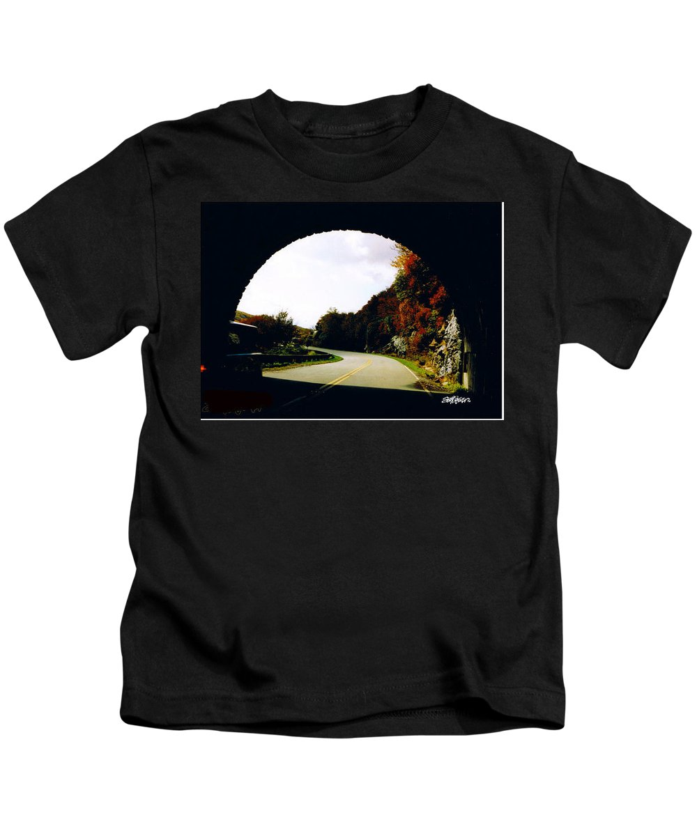 Tunnel Vision Kids T-Shirt featuring the photograph Tunnel Vision by Seth Weaver