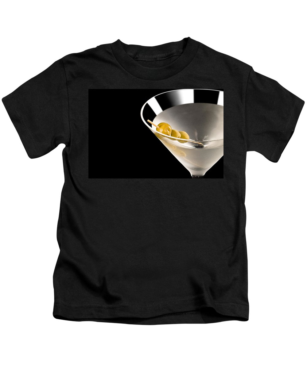 Alcohol Kids T-Shirt featuring the photograph Vodka Martini by U Schade