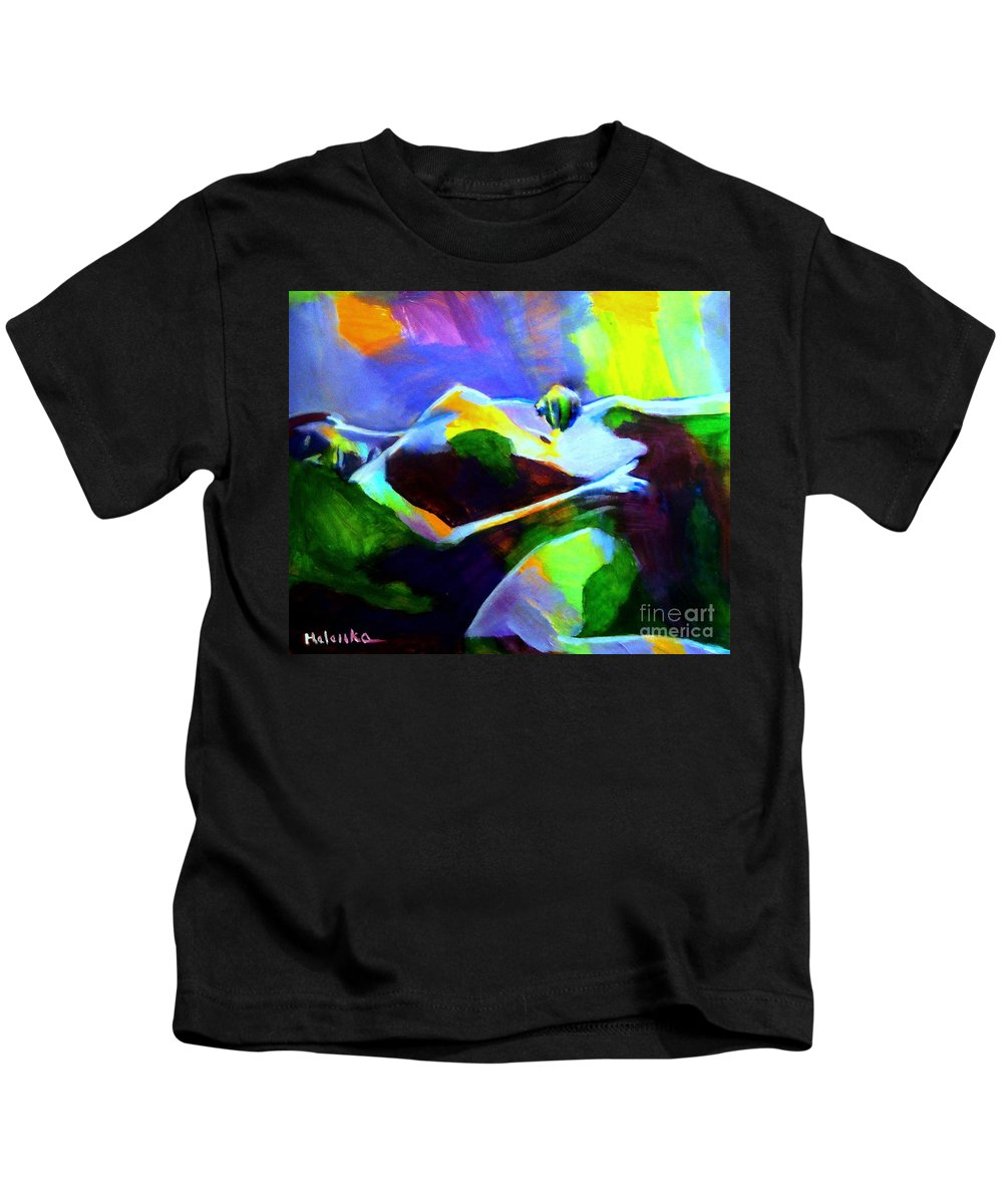 Affordable Original Art Kids T-Shirt featuring the painting Warm Body by Helena Wierzbicki